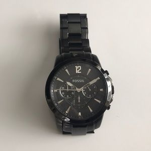 Men's Fossil Watch - Black Stainless Steel